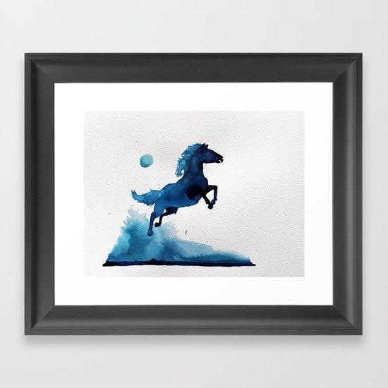 Equus ferus caballus Framed Art Print
