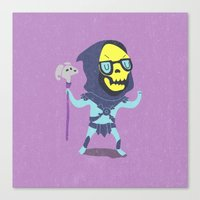 skeletor Canvas Prints featuring Skeletor by Rod Perich