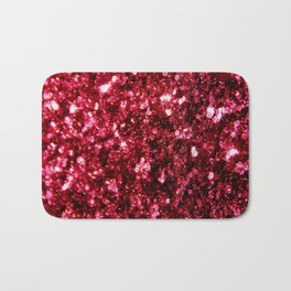 Pink glitter sparkle Bath Mat