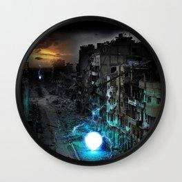 Dystopian Orbs Wall Clock