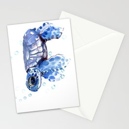 Baby Blue Turtle Stationery Cards