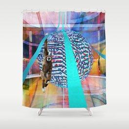 Monkee Globe Shower Curtain