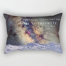 """The Power of Imagination Makes us Infinite"" Rectangular Pillow"