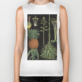 Botanical Pineapple Biker Tank