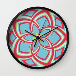 Spiral Rose Pattern C 3/4 Wall Clock