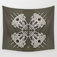 cyberpunk Wall Tapestries featuring Calaabachti Arch Rosetta [synthetic version] by Obvious Warrior