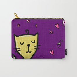Cat in love woundering, sketchy doodles Carry-All Pouch