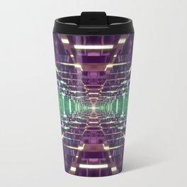 Aqua and Purple Tunnel Travel Mug
