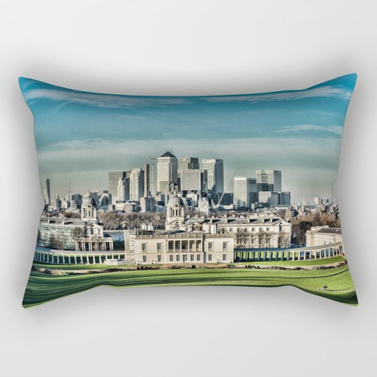 London - Canary wharf Towers Rectangular Pillow