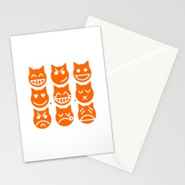The 9 Lives of the Emoji Cat Stationery Cards