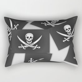 The Jolly Roger of Calico Jack Rectangular Pillow