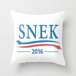 Snek for President 2016 Throw Pillow