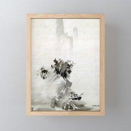 Sesshu Toyo Haboku-Sansui Landscape Framed Mini Art Print