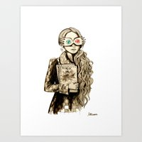 luna lovegood Art Prints featuring Luna Lovegood by Justine Lecouffe