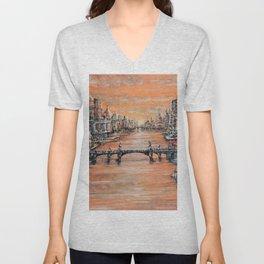 Bridges of Dreams (Soyno dei Ponticelli) Unisex V-Neck