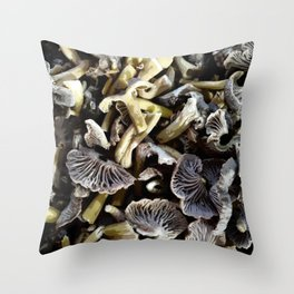 Chopped mushrooms - Forest harvest Throw Pillow