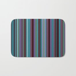 Retro Stripe in Blueberries and Orchids Bath Mat