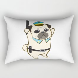 Animal Police - Pug Rectangular Pillow