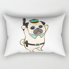 Animal Police - Pug Rectangular Pillow