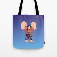 wreck it ralph Tote Bags featuring Ralph by pokegirl93