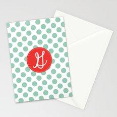 Monogram Initial G Polka Dot Stationery Cards
