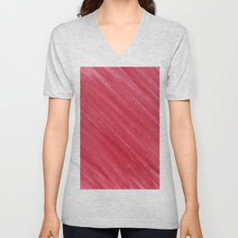 Red Diagonal Watercolor Painting Unisex V-Neck