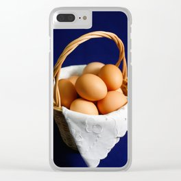Eggs in a basket Clear iPhone Case