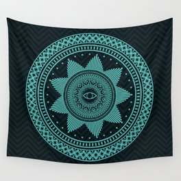 Eye of Protection Mandala Wall Tapestry