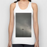 gray Tank Tops featuring Gray Sky by Mauricio Santana