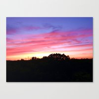 wisconsin Canvas Prints featuring Wisconsin Sunset by Ron Trickett