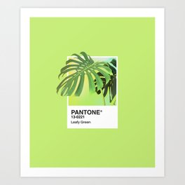 PANTONE SERIES – LEAFY GREEN Art Print