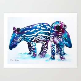 Baby tapir Art Print