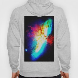 Bright & Colorful Galaxy Messier 82 Hoody