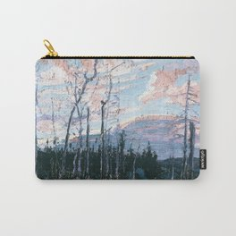 Tom Thomson - Burnt Land at Sunset  - Canada, Canadian Oil Painting - Group of Seven Carry-All Pouch