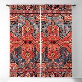 Kashan Poshti Central Persian Rug Print Blackout Curtain