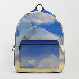 The Serenity Prayer - White Dove Art - Sharon Cummings Backpack