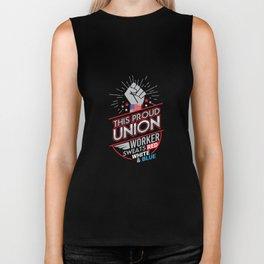 Labor Union of America Pro Union Worker Protest Dark Biker Tank