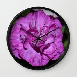Lilac carnation Wall Clock