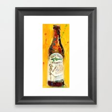 Dogfish Head namaste Beer Watercolor - Perfect for man cave Framed Art Print