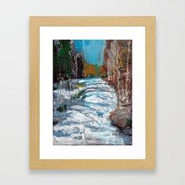 Melting Snow in McKinnon Ravine / Dennis Weber / ShreddyStudio Framed Art Print