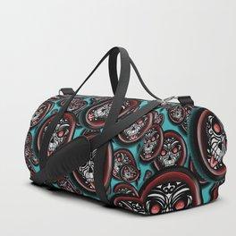Cute Skull Maori Duffle Bag