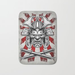 Samurai Mask Bath Mat