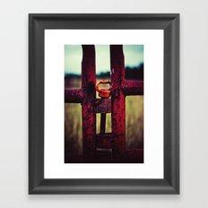 Rustic Red Fence Framed Art Print