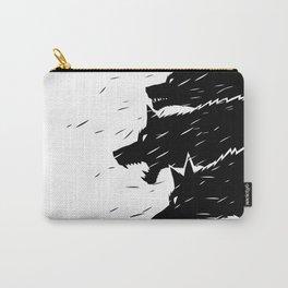 Hund wild, Tier Raubtier, minimalistisches Grafikdesign Carry-All Pouch