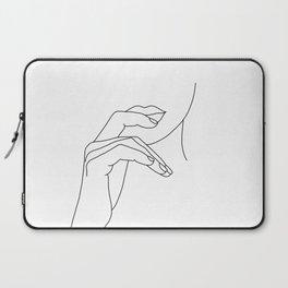 Hands line drawing illustration - Grace Laptop Sleeve