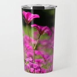 Pink Cransebill Travel Mug