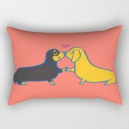 Dachshund Kisses Rectangular Pillow