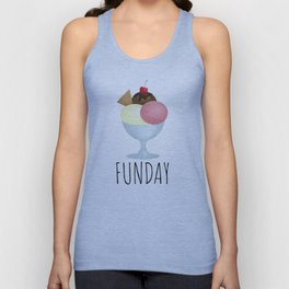 Sundae Funday Unisex Tank Top