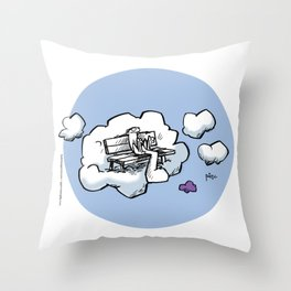 Cloud Bench for Squirrels Throw Pillow