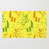 rabbit Area & Throw Rugs featuring Rabbit by LaDa